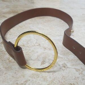 LAUREN RALPH LAUREN Gold & Brown Belt